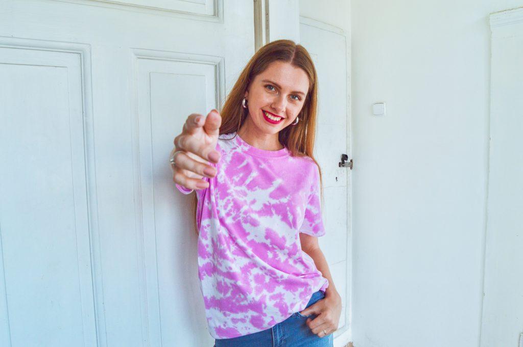 Ružové tričko